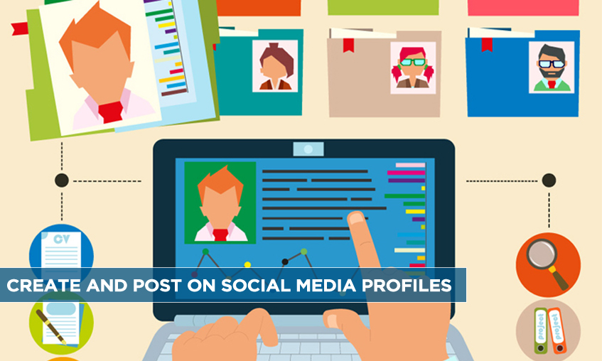 Create and Post on Social Media Profiles