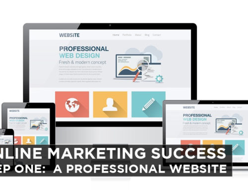 Online Marketing Success – Step One: A Professional Website
