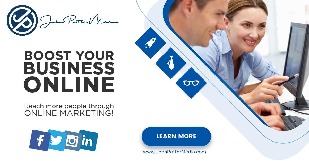 John Potter Media - Web Design & Online Marketing Powerful websites for growing companies Call us at 781-246-0210 or visit our website at www.JohnPotterMedia.com